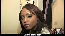Ebony chick fucked hard in group sex action 16