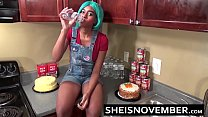 My Innocent Ebony Step Sister Msnovember Is About To Get Fucked In The Kitchen When Mom Is Gone And Her Big Tits Cumshot Facial From My Hard Cock Load HD Sheisnovember Thumbnail
