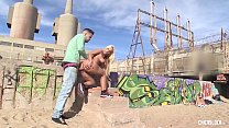 CHICAS LOCA - Hot Latina Blondie Fesser in hot pussy and ass fuck on the beach Preview