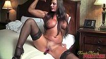 Fit Pornstar Nikki Jackson Vibrates Her Wet Cunt