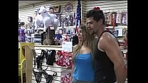 Playful blonde nympho Bruna told her overstuffed musclehead friend that it would be a great idea to purchase something interesting in sex shop and to make love there