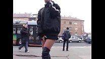 girl pees in public porn image