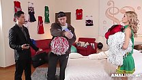 Anal addict Erica Fontes gets DP'ed in Cheerleader costume - 9Club.Top