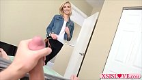 Stepsister steps in the room to see bro jerking off - sophie dee lexington thumbnail