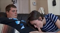 Young couple fucking on the couch