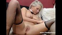 Pretty Blonde Fucks Herself With Dildo On Webcam