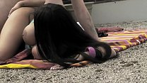 Big boobs brunete gets pounded outdoors - more videos on www.amateurcams.cf
