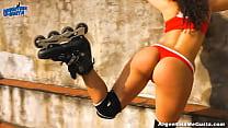 Thick-Ass Roller Babe! Amazing Big Round Ass! Hot Latin Teen