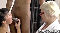 LACEYSTARR - Mature doctor fucked by interracial couple Preview