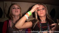 lollipop lesbian sex in spring break limo preview image