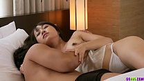 Kotomi moans hard with a cock in her tiny pussy...