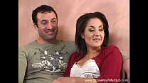 Brunette Swinger MILF Fucks New Man's Thumb