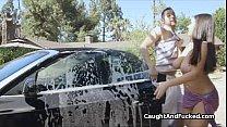 Bigtit bikini carwash babe fucked hard Thumbnail