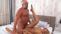 Lucky Grandpa Fucks a Smoking Teen