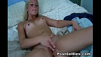 Naughty Blonde Leanna Leigh Spreads  Her Tight ...