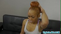 Nubian trans queen spreads ass before tugging