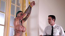 Pierced Pussy Stuffing - Inked Submissive Double Penetrated