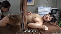 Image: Subtitled CFNF ENF Japanese lesbian massage clinic oral