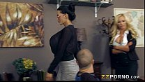 Busty teachers Amy Anderssen and Nikki Benz fucked with student
