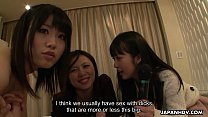 Japanese reporter, Asakura Kotomi and her friends suck cock, uncensored - 69VClub.Com