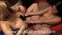 Lesbians games dildos and fisting with Montse Swinger vs Musa Libertina thumbnail