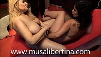 Lesbians games dildos and fisting with Montse Swinger vs Musa Libertina Vorschaubild
