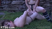 Master is giving gagged playgirl a brutal pussy pleasuring pornhub video