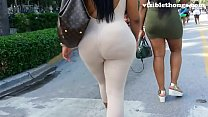 See-through leggings visible thong booty 6