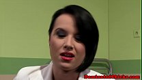 Euro beauty gagged and dominated by doctor
