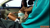 Sweet latina flashes her tits and rammed by nas...