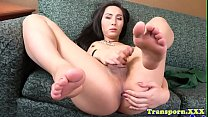 Stunning Classy Shemale Pulling Cock Solo