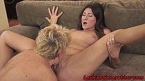 Download video bokep Hairy granny pussylicking busty lesbian 3gp terbaru