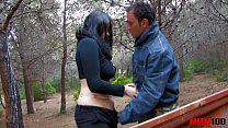 Bigtited gipsy whore fucked in the ass in the woods pornhub video