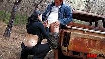 Bigtited gipsy whore fucked in the ass in the woods image