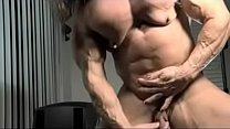 10556 muscle hermaphrodite jerks her little cock preview