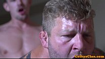 Straight jock banged in ass while jerking off