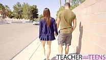 Hot Teacher Tricks Students Into Threeway Fuck thumbnail