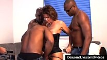 Busty Mature Cougar Deauxma Fucked In Ass By 3 Black Cocks! Preview