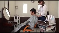 Beautician Beauty Comes Boobs Pressed Against The Face. Scop 062 4