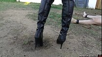 femdom yardwaste humiliation from mistress tangent preview image