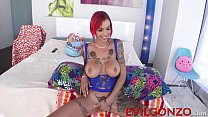 Tattooed redhead Anna Bell Peaks sodomized in her asshole thumbnail