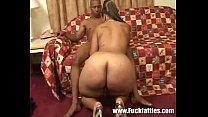BBW Babe Riding Her Black Partner's Hard Cock's Thumb