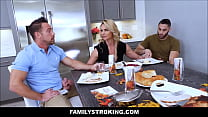 MILF Stepmom Threesome With Father And Son thumbnail