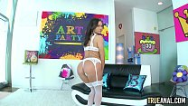 True Anal Zoe Bloom Has Her Tight Ass Creampied