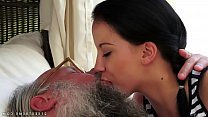 Old young kissing compilation Thumbnail