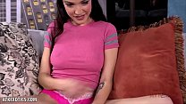 Hot brunette Jericha Jem lotions her body for you