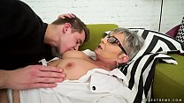 Lusty grandma vs young big cock - Jessye, Oliver video