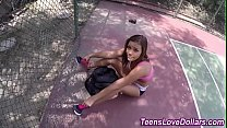 Real teen cum soaked pov