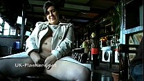 Amateur bbw Kinx upskirt masturbation in a bar and outdoor public nudity of toy Preview