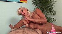 Granny Blowjob CHALLENGE - Sally Tortures His Big Cock